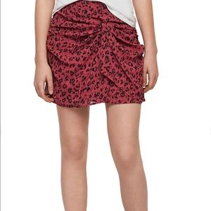 All Saints Skirts - New All Saints Rylie Roar Twist Front Ruched Skirt
